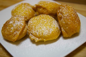 Delicious pumpkin fritters